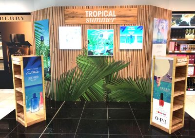 Tropical Summer Duty Free Retail Display Camberley Signs