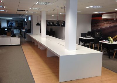 Bespoke laminated MDF desk