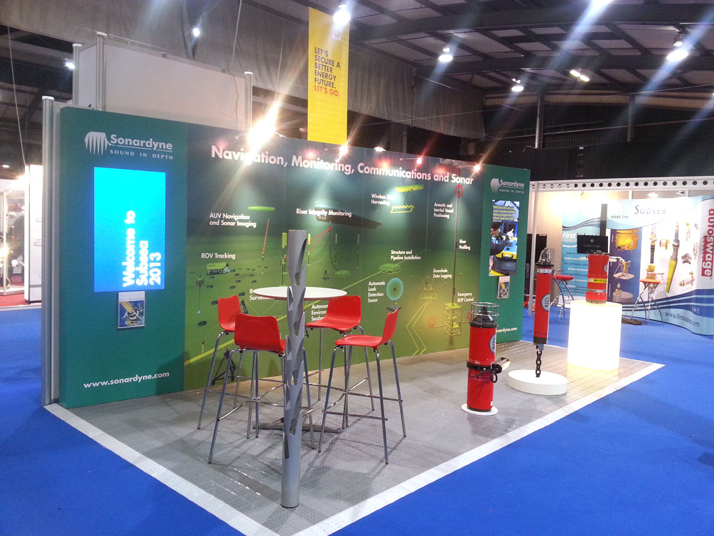 Exhibition Stand Wall Covering : Sonardyne u2013 exhibition stand camberley signs
