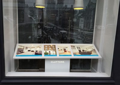 Cluttons window mounted property display