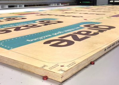 Direct to media printed ply POS displays