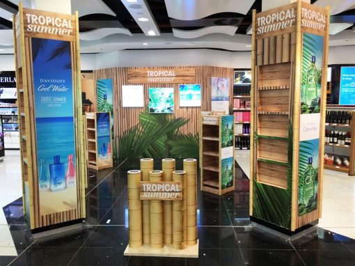 Tropical Summer – Duty Free Retail Display