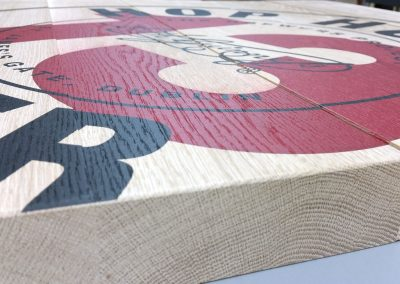 Direct to media print onto timber