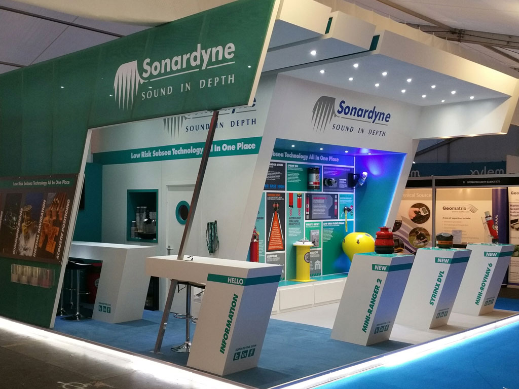 Exhibition Stand Wraps : Sonardyne u exhibition stand camberley signs