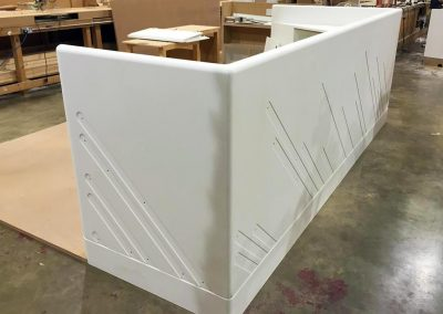 Corian sales counter