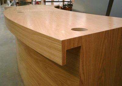 Laminated office desk