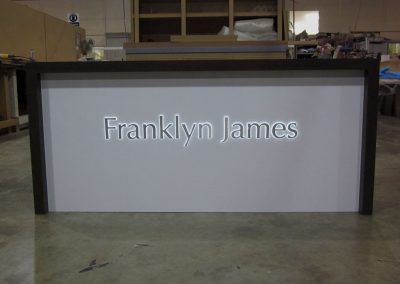 Illuminated reception desk