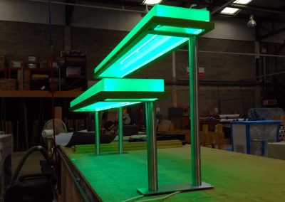 Manufacturing an illuminated display