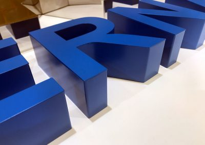 3d letters, 100mm thick