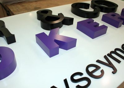 3d logo 50mm thick and acrylic letters