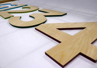 Ply numbers with painted sides