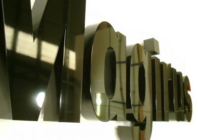 Built up steel letters