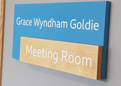 Acrylic and ply door sign